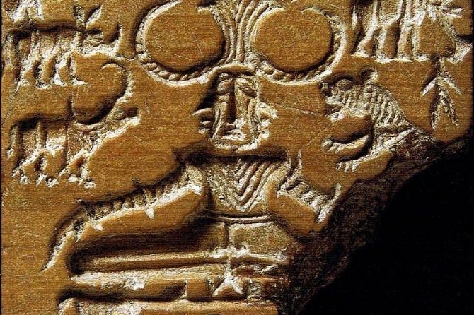 Photo des découvertes du yoga dans les ruines de Mohenjodaro
